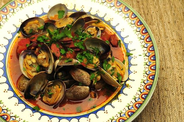 Clams with Chorizo | What's for Dinner? | Pinterest