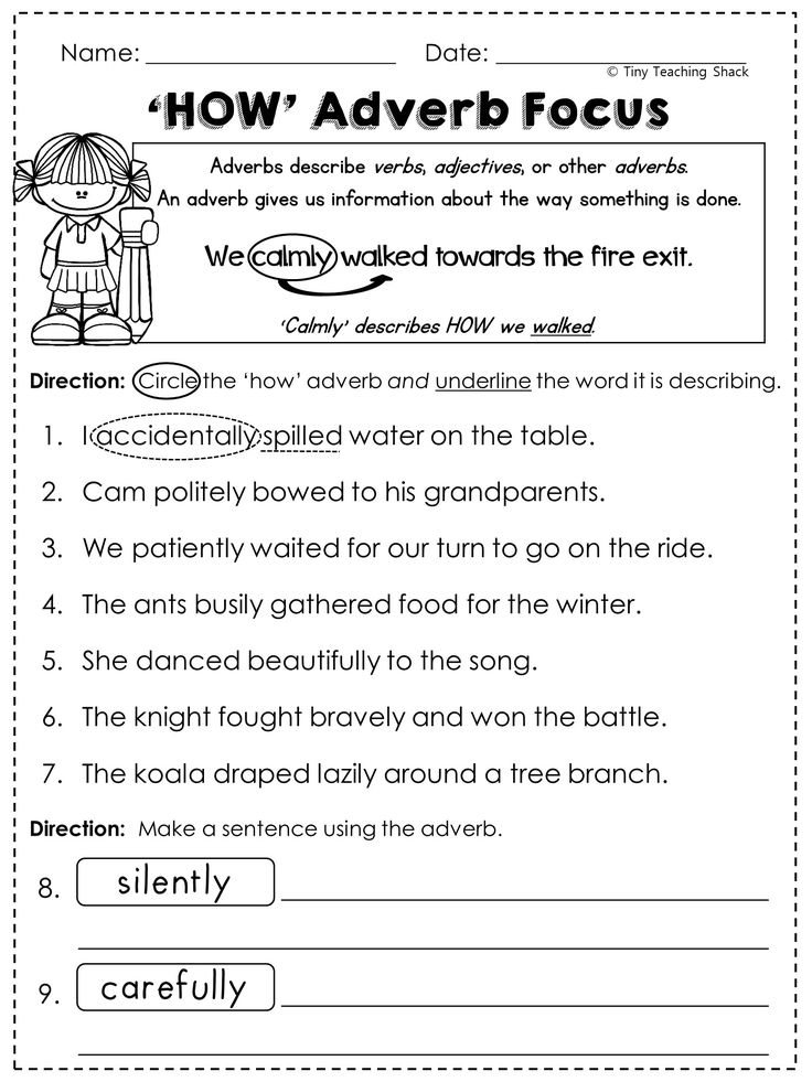 4th grade english worksheets with answers