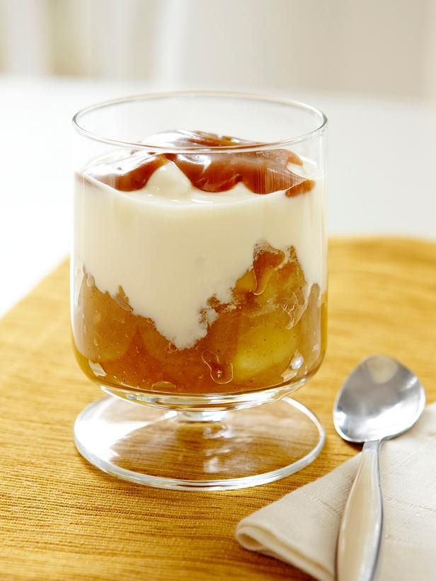 Homemade Yogurt With Apple Compote #FNMag #MyPlate #Fruit #Dairy
