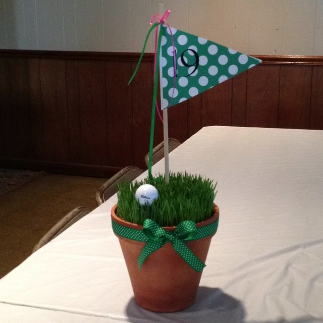 golf outing table centerpieces | Golf Tournament Table Decoration used ...