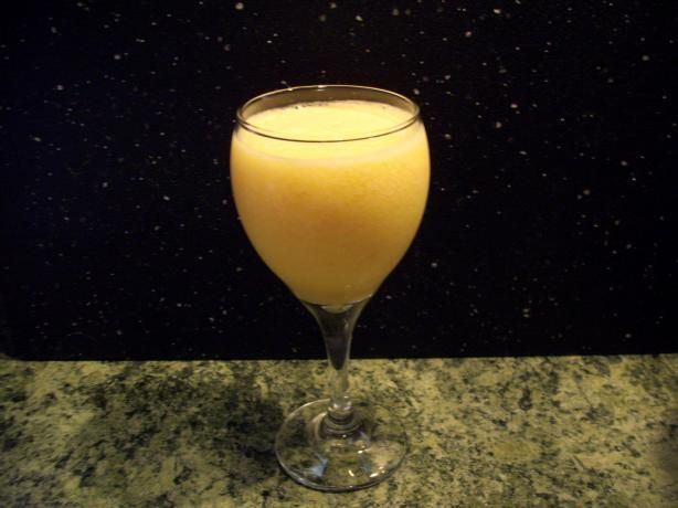 Peachy Cantaloupe Smoothie. Use fresh peaches and fresh cantaloupe!