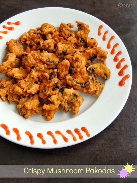 Crispy Mushroom Pakoda | Snack and Starter | Pinterest