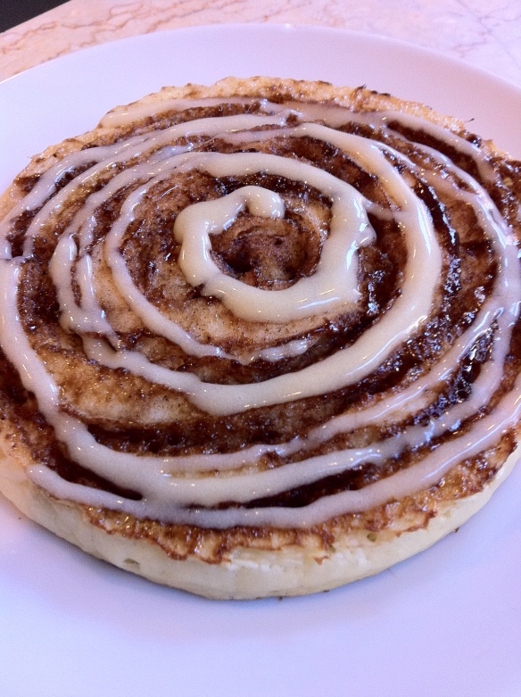 Cinnamon Swirl Pancakes with Maple Mascarpone Glaze! Cannot wait to ...