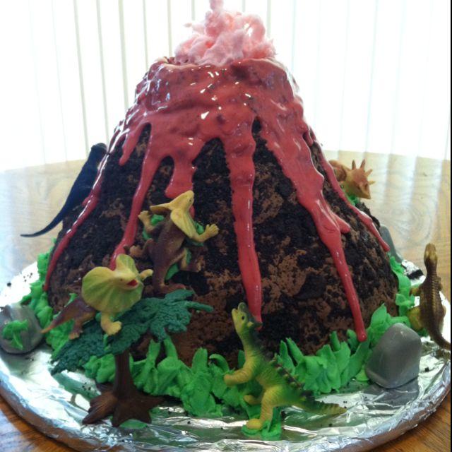 Volcano Cake Topper