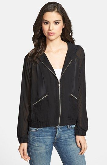 Olivia Moon Hooded Sheer Jacket available at #Nordstrom