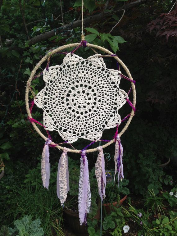 Crocheting Dream Catchers : Crochet Dream Catcher by SunsetPoint on Etsy, $35.00