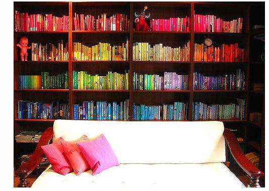 book books bookshelf colours - photo #26