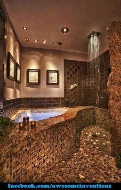Amazing Tub And Shower Master Closet And Bath Ideas