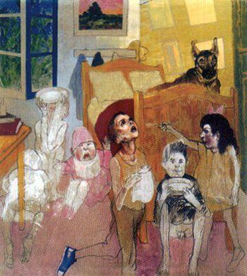 """""""Casa tomada"""" de Carlos Alonso (Argentina, 1929)"""