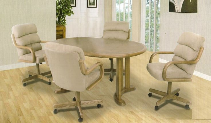 chairs with casters arms a m b furniture design dining room
