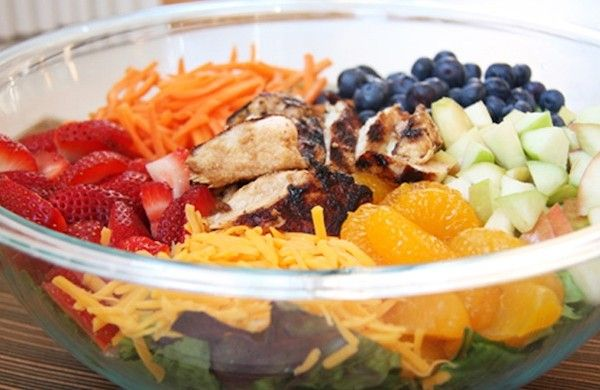 Skinny Grilled Chicken and Fruit Salad | Recipe