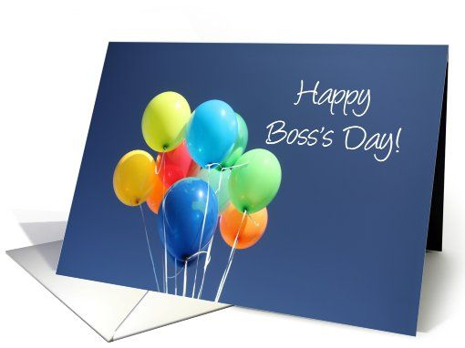 Boss's Day colored balloons card: pinterest.com/pin/486107353500303297