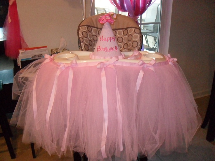 tulle high chair skirt my baby