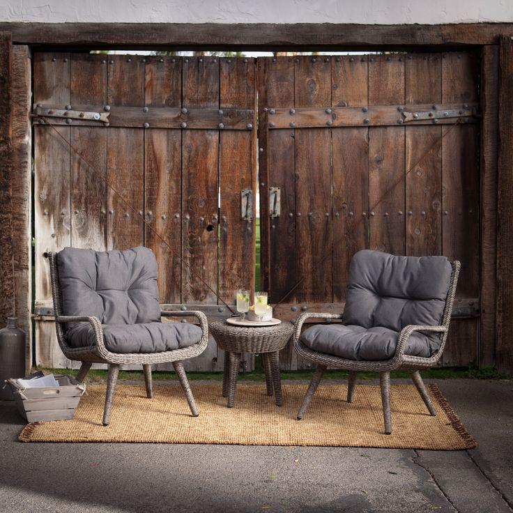 Belham Living Rio Wicker Conversation Set - Outdoor Bistro Sets at Hayneedle