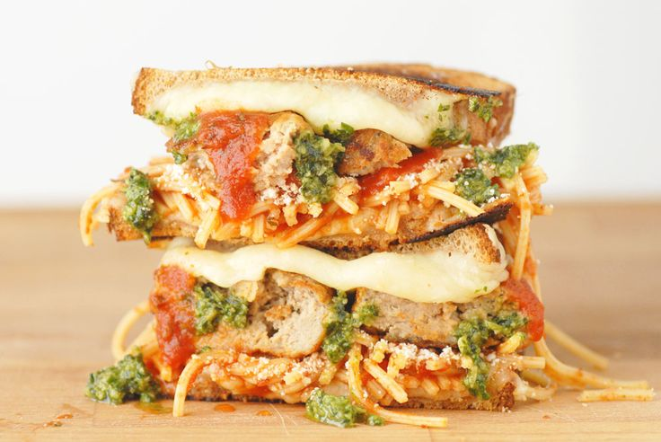 If your taste buds just perked up, you should probably treat you and your family to this tonight: Meatball & Pesto Grilled Cheese. #SundaySupper