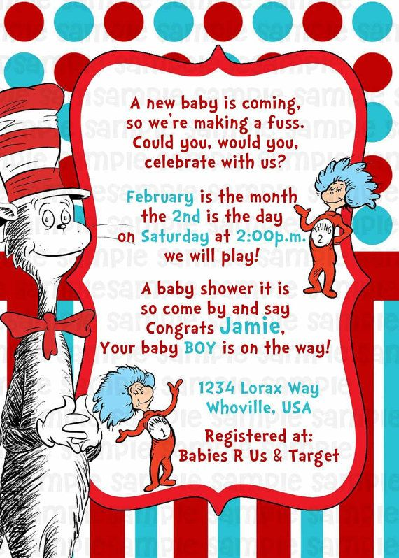 dr seuss cat in the hat baby shower invitation by pinkturtleshop 11