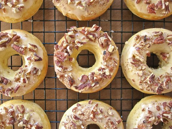 Bourbon Maple Pecan Donuts | Deliciousness | Pinterest