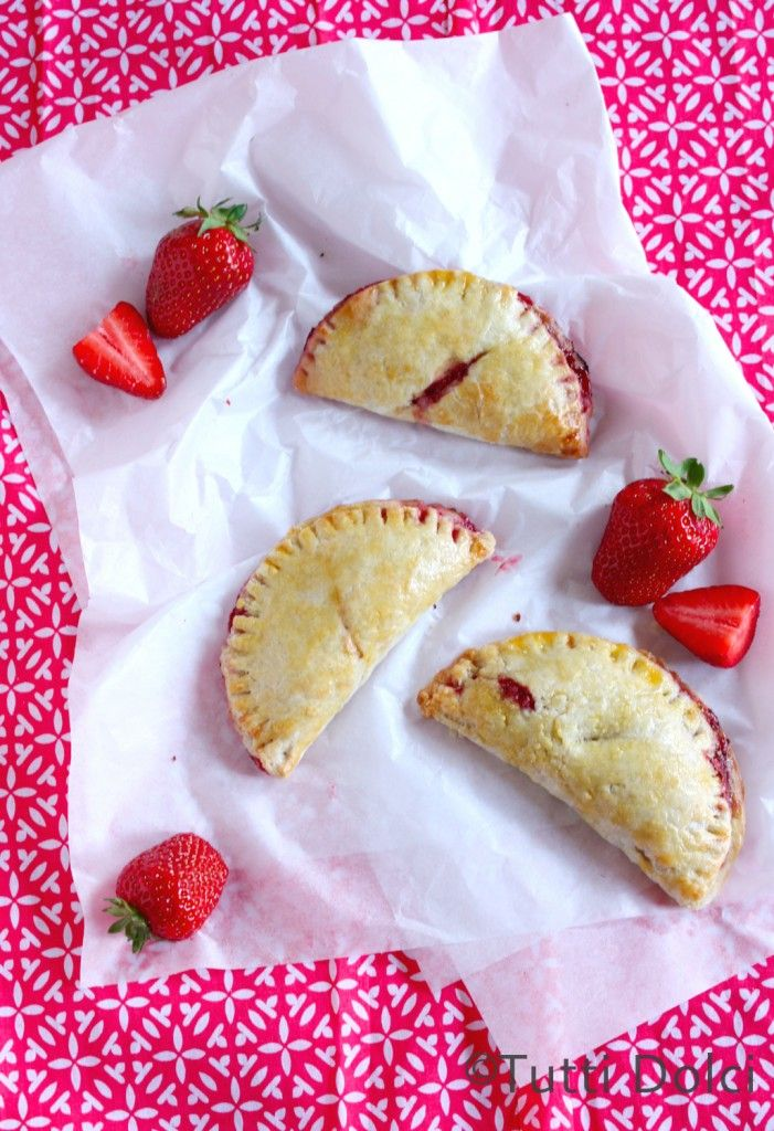 Strawberry Hand Pies ~ tuck a few into a checked linen napkin to take ...