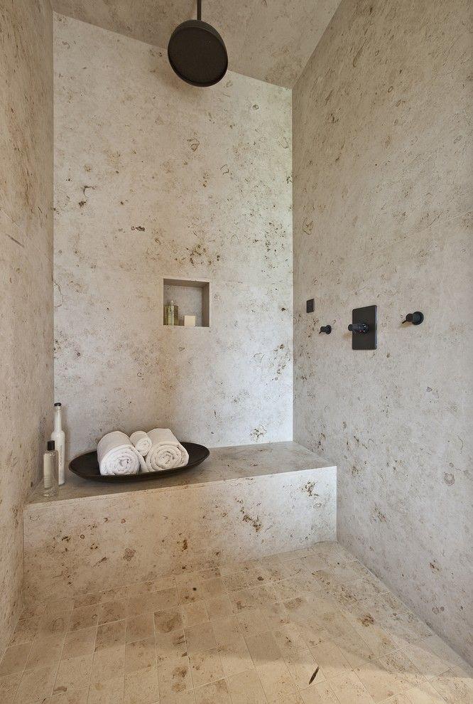 Natural stone travertine bathroom natural stone for Natural stone bathroom designs pictures