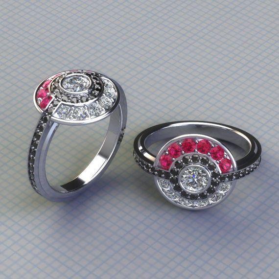 anime inspired engagement rings