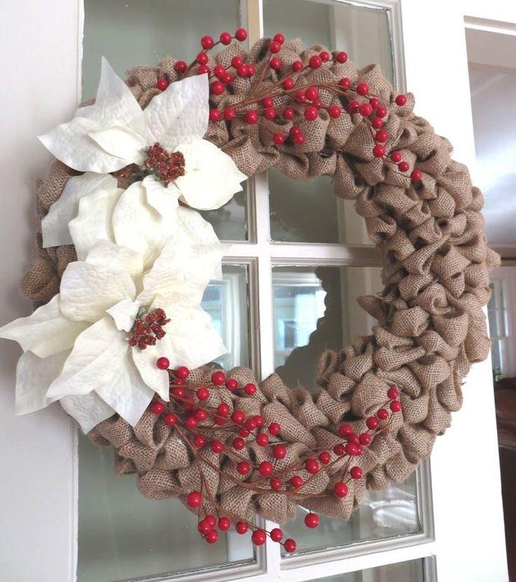 burlap christmas wreaths recent deals - Burlap Christmas Wreaths