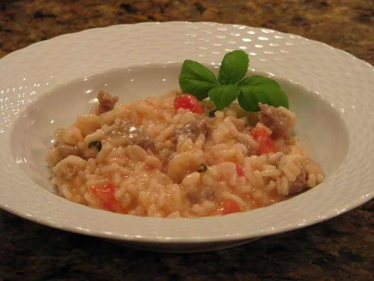 Sausage Risotto | Super Bowl Recipes | Friends Food Family | Pinterest