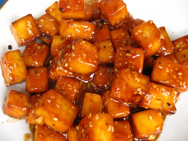 Spicy Vegan Peanut Butter Tofu With Sriracha Recipe — Dishmaps