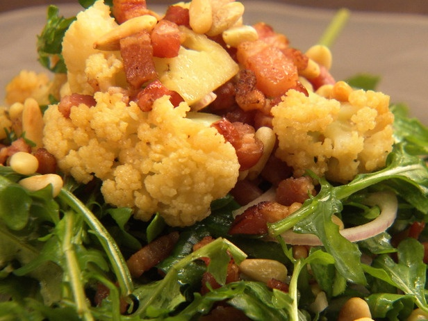 Cauliflower With Pine Nuts And Bacon Recipes — Dishmaps