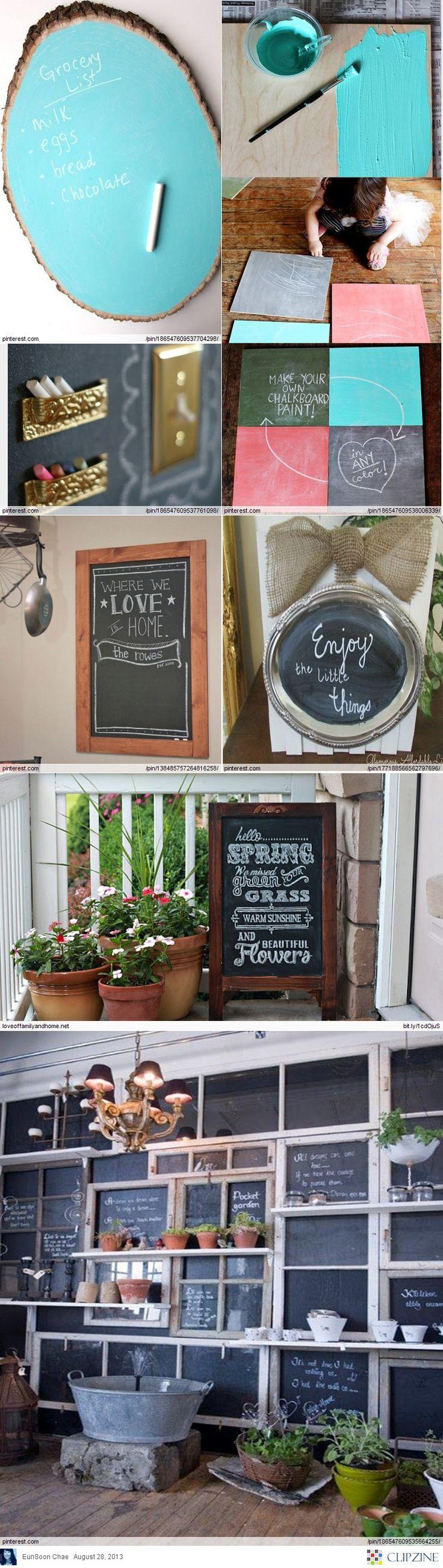 Diy Chalkboard Paint Ideas Home Decor Pinterest