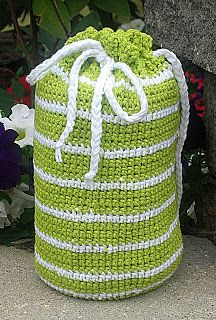 Crochet Laundry Bag : Quick and Easy Crochet Backpack -- or a laundry bag @Jess Pearl Liu ...