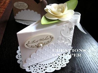 Cake Slice Wedding Box Card Ideas Pinterest