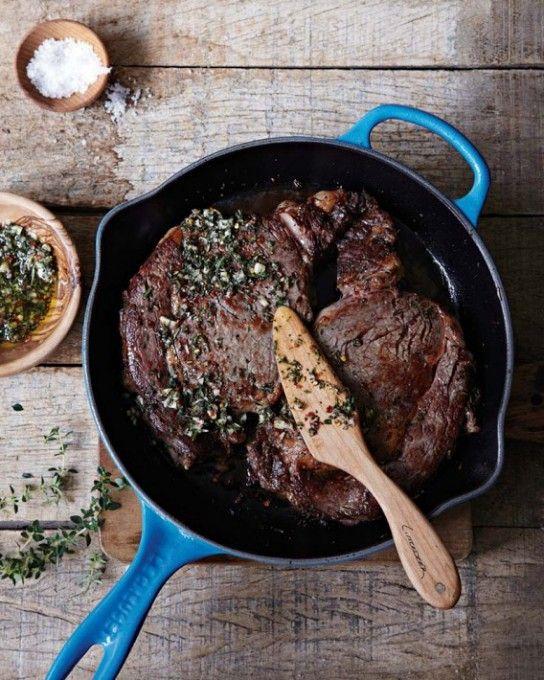 Sicilian Steak - Boost the flavor of rib-eye steaks by marinating them ...