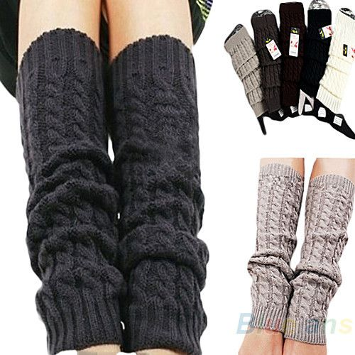 Womens Fashion Winter Knit Crochet Knitted Leg Warmers ...