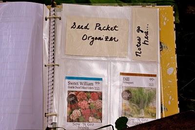 DIY Garden Journal and Seed Organizer Helpful tips