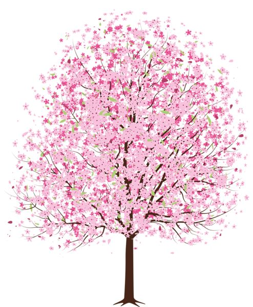 Pink Spring Deco Tree PNG Clipart | ARBRES | Pinterest