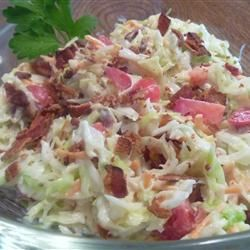 Creamy Blue Cheese Coleslaw with Bacon   Blue Cheese + bacon in ...
