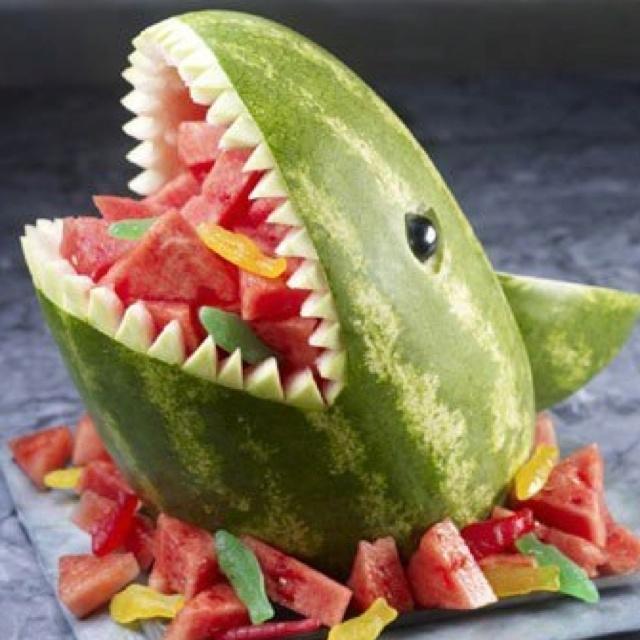 Pirate party watermelon shark food ideas pinterest
