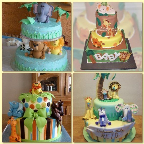 Cake Ideas - find all kinds of ideas for a zoo animal baby shower ...