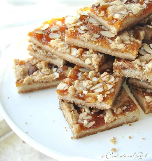 Apricot Almond Shortbread Bars + Cookiepalooza Party