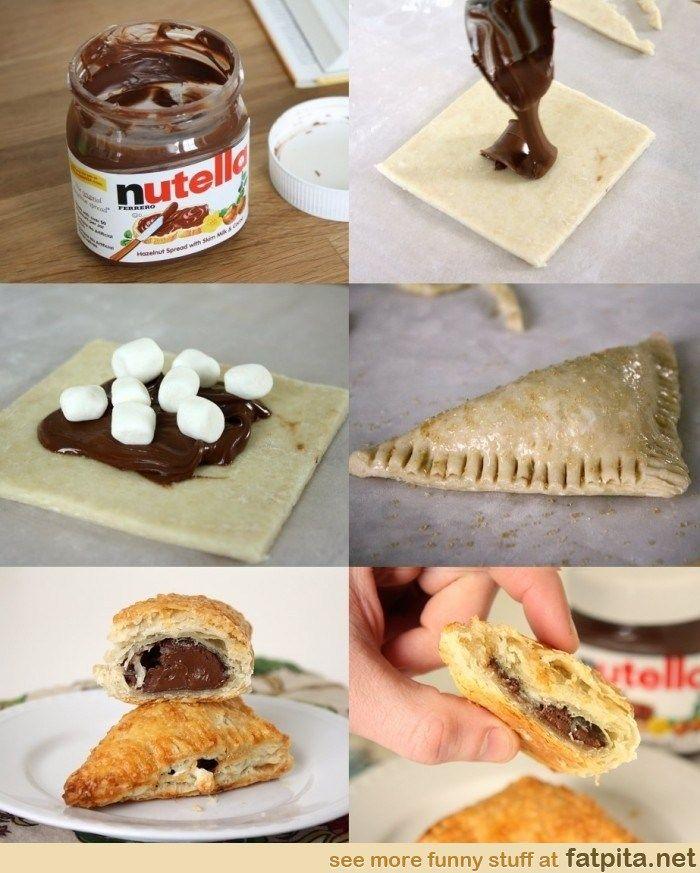 nutella turnover   Random food stuff   Pinterest