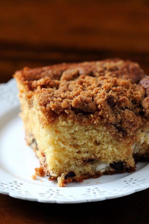 Cherry And Coconut Coffee Cake Recipe — Dishmaps