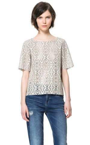 CUT - OUT FAUX LEATHER TOP - Tops - Woman | ZARA
