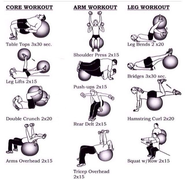Stability Ball Yoga Poses: Yoga Ball Workout