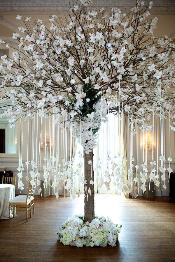 Wedding escort card display, escort card / wishing tree by Tantawan Bloom | Top 10 Unique Wedding Styling Ideas