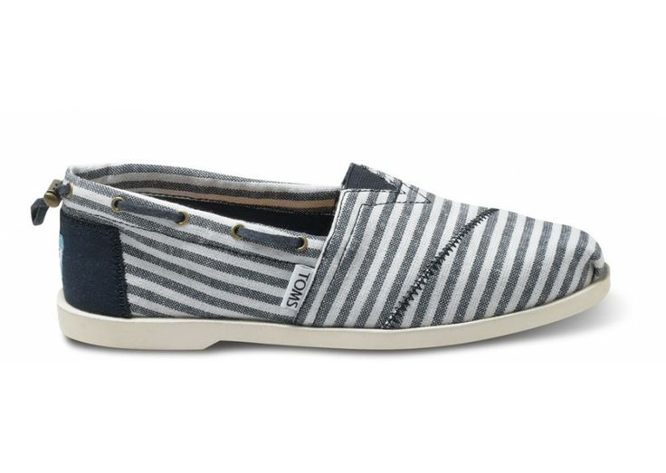 Nautical Biminis - Navy Stripe Nautical Women's Biminis | TOMS.com