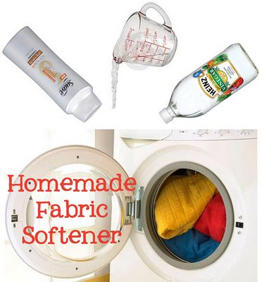 Homemade Fabric Softener - use in the rinse cycle or spritz it on a wash cloth and throw in dryer.