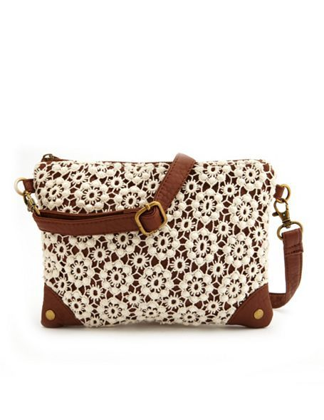 Daisy Crochet Cross-Body Bag: Charlotte Russe