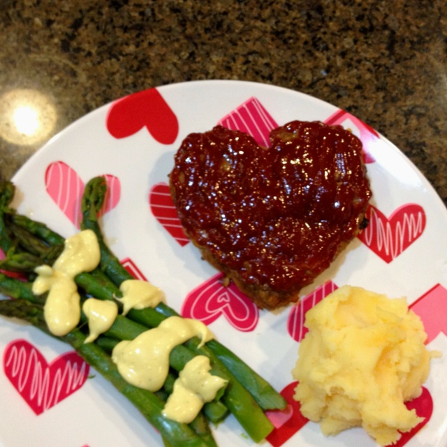 heart shaped meatloaf valentine's day