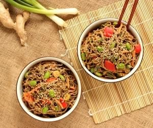 Recipe: Pasta Recipes / Soba Noodle Salad with Spicy Peanut Dressing ...
