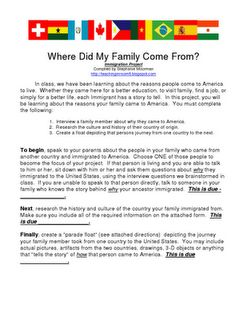 elementary essay on immigrant